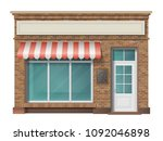brick small store building... | Shutterstock .eps vector #1092046898