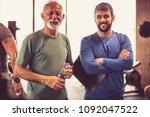 portrait of senior man and... | Shutterstock . vector #1092047522