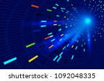 color luminescence trajectory... | Shutterstock .eps vector #1092048335