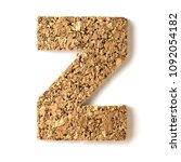 cork.alphabet.letter z  on... | Shutterstock . vector #1092054182