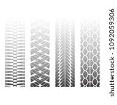 set of three dotted tire track... | Shutterstock .eps vector #1092059306