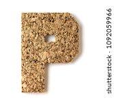 cork.alphabet.letter p  on... | Shutterstock . vector #1092059966