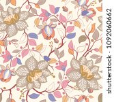 colorful floral pattern.... | Shutterstock . vector #1092060662