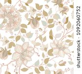 colorful floral pattern.... | Shutterstock . vector #1092060752