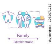 family concept icon. parenthood ... | Shutterstock .eps vector #1092071252
