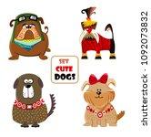 ute dogs set. cartoon | Shutterstock .eps vector #1092073832
