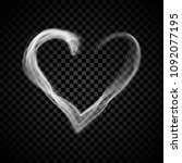 heart steam smoke isolated on... | Shutterstock .eps vector #1092077195