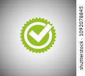 green tick mark icon vector... | Shutterstock .eps vector #1092078845