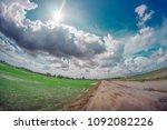 the paddy field of alor setar ... | Shutterstock . vector #1092082226