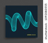 cover design template. spiral.... | Shutterstock .eps vector #1092083555