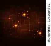 electronic circuit design... | Shutterstock .eps vector #1092084992