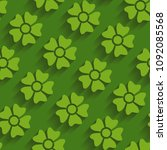 green seamless pattern with... | Shutterstock .eps vector #1092085568