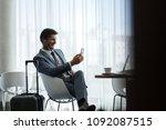 businessman going on a business ... | Shutterstock . vector #1092087515
