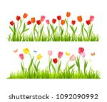 realistic vector colorful... | Shutterstock .eps vector #1092090992