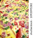 pizza. background pizza | Shutterstock . vector #1092095282