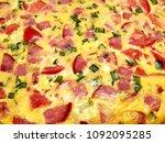 pizza. background pizza | Shutterstock . vector #1092095285