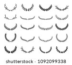 collection of different black... | Shutterstock .eps vector #1092099338
