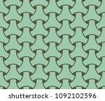 japanese seamless wicker... | Shutterstock .eps vector #1092102596