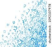 all letters of hebrew alphabet  ... | Shutterstock .eps vector #1092107978