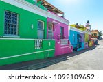 a colorful street view of the... | Shutterstock . vector #1092109652