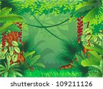 exotic tropical forest | Shutterstock .eps vector #109211126