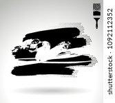 black brush stroke and texture. ...   Shutterstock .eps vector #1092112352