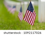 small american flags and... | Shutterstock . vector #1092117026