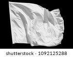 blank white flag  isolated on... | Shutterstock . vector #1092125288