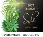 dark banners with photo... | Shutterstock .eps vector #1092130142