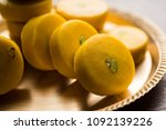 kesar pedha or peda is an... | Shutterstock . vector #1092139226