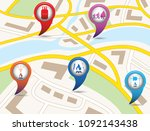 set of tourism services map... | Shutterstock .eps vector #1092143438
