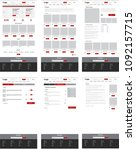 ecommerce website template  set ...