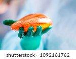surgeon preparing breast... | Shutterstock . vector #1092161762