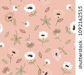 retro blossom  floral pattern... | Shutterstock .eps vector #1092162515