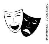 theater icon with happy and sad ... | Shutterstock .eps vector #1092163292