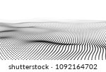 abstract digital wave particle. ... | Shutterstock .eps vector #1092164702