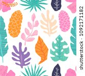 vector seamless pattern with... | Shutterstock .eps vector #1092171182