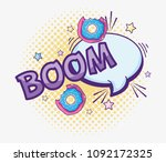 pop art cartoons   Shutterstock .eps vector #1092172325
