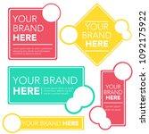 generic and editable brand... | Shutterstock .eps vector #1092175922
