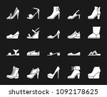 women shoes silhouette icons... | Shutterstock .eps vector #1092178625
