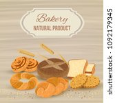 bread poster illustration | Shutterstock .eps vector #1092179345