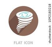 tornado icon. vector... | Shutterstock .eps vector #1092183218