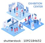 exhibition center isometric... | Shutterstock .eps vector #1092184652