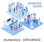 exhibition center isometric... | Shutterstock .eps vector #1092184652