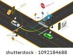 driving school isometric... | Shutterstock .eps vector #1092184688