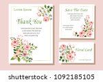 a set of vector maps with pink... | Shutterstock .eps vector #1092185105