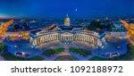 panorama of st. petersburg.... | Shutterstock . vector #1092188972
