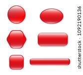 set of red square and rounded...
