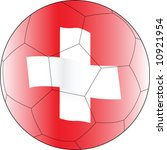 soccer ball switzerland | Shutterstock .eps vector #10921954