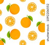 citrus background with oranges. ... | Shutterstock .eps vector #1092206552